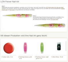 LCN Flower Nail Art