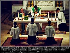 1 Cor. 10:16-17 The Mass