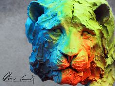#bengale #streetart by #oliviercourty #popart #sculpture #french #artiste #artist #tigre