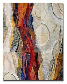 CRESCENDO x By Hilde Morin Curved piecing commercial fabrics, hand dyes, machine quilted Art Fibres Textiles, Textile Fiber Art, Textile Artists, Art Populaire, Creative Textiles, Contemporary Quilts, Claude Monet, Fabric Art, Soft Sculpture