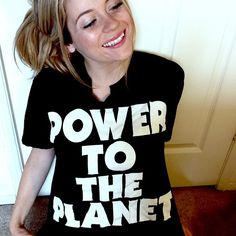POWER TO THE PLANET Awesome large shirt with an awesome message. Soft too :) it's made with 100% organically grown cotton from India ! 🌍❤️ Tops Tees - Short Sleeve