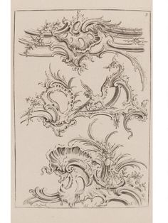 Matthias Lock, unnumbered plate from A new Drawing Book of Ornaments, c. 1746