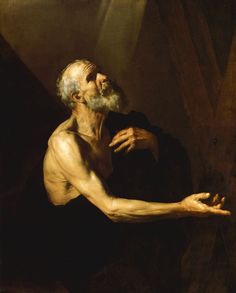 St. Andrew 4, Drawing by Jusepe De Ribera (Lo Spagnoletto) (1591-1652, Spain)