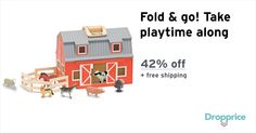 "Help me drop the price of the Melissa & Doug Wooden Barn to $29.00 (42% off). The price continues dropping as more moms click ""Drop the price"". Moms drop prices of kids & baby products by sharing them with each other."