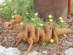 Yard Art,Garden Art,Garden Sculpture,Garden Junk,Recycled Art,Welded Art,Whimsical Art,Found Art,Bug