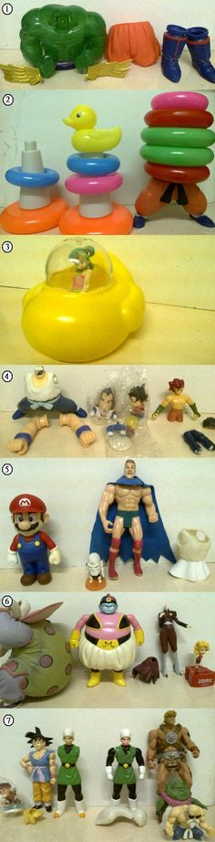 CMAHKS CUSTOMS: 1. Gorilla (Other world tournament), may be use Vegeta or Kai's head for the head part. 2. Some kid's toy ring for Caterpy (other world tournament). 3. The submarine released by AB is the one Goku took it enter the base. They took a different one when they left so I need to make it. 4. Man-Wolf on left, Pamputon on right. I don't want to sacrifice the head of Oozaru for man-wolf though I don't collect popy things. May be use the head of dwc Bear Thief instead. 5. Mario's…