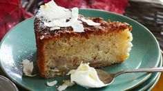 Feijoa, Coconut and Lemon Cake Ingredients butter, softened ½ cup caster s. - Feijoa, Coconut and Lemon Cake Ingredients butter, softened ½ cup caster sugar 2 eggs ½ cup - Fejoa Recipes, Dairy Free Recipes, Raw Food Recipes, Wine Recipes, Sweet Recipes, Baking Recipes, Dessert Recipes, Desserts, Pudding Recipes