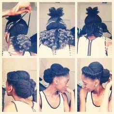 Updo cheveux crépus