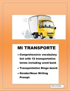 This Transportation package is very helpful to teach means of transportation to to students. The package includes - Vocabulary worksheet with twelve transportation means and Word bank. This worksheet includes the determinate articles in Spanish el, la , las, los.