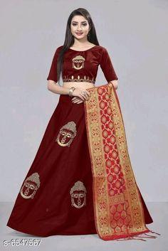 Beautiful Lehenga Choli  Topwear Fabric: Taffeta Silk Bottomwear Fabric: Taffeta Silk Dupatta Fabric:  Banarasi Silk Set type: Choli And Dupatta and Lehenga Top Print or Pattern Type: Embroidered Bottom Print or Pattern Type: Embroidered Dupatta Print or Pattern Type: Floral Sizes:  Semi Stitched (Lehenga Waist Size: 28 TO 40 in, Lehenga Length Size: 54 in, Lehenga Flair: 4 m, Dupatta Length Size: 2.20 m, Choli Length Size: 0.80 m)  Dispatch: 2-3 Days New Lehenga Choli, Hot, Skirts, Beauty, Dresses, Fashion, Vestidos, Moda, Skirt