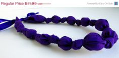 ON SALE Purple Beaded Nursing Necklace Fabric by RubyRebels, $10.79