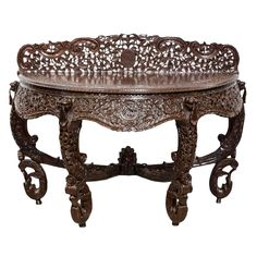 Anglo-Indian or British Colonial Rosewood Console Table | From a unique collection of antique and modern furniture at https://www.1stdibs.com/furniture/asian-art-furniture/furniture/