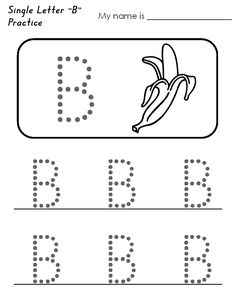 Trace Letter B Worksheets Worksheet Examples