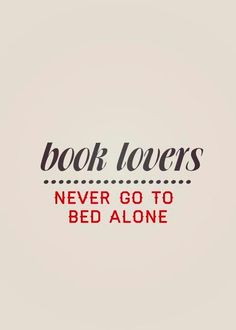 booklovers never go to bed alone