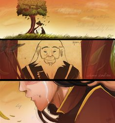 If you are real fan of avatar you would know that the person who voiced Iroh, Mako Iwamatsu, died before the third season was made. Mako, in the legend Korra is named after him. So with that said I will start sobbing now