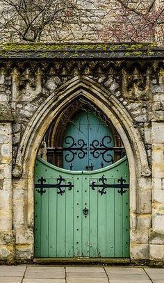 bellasecretgarden: (via: Old Gate by A Souppes / Fine Art America) Grand Entrance, Entrance Doors, Doorway, Cool Doors, Unique Doors, Portal, Door Knockers, Door Knobs, Porches