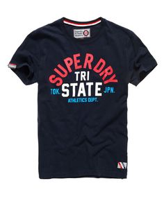 Superdry Tri Track T-Shirt Shirt Print Design, Shirt Designs, Fashion Prints, Men's Fashion, Tourist Outfit, Superdry Style, Cool T Shirts, Tee Shirts, Wear Store