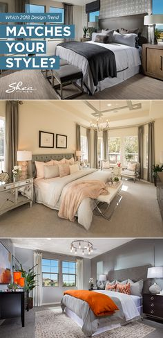 Quiz: Which 2018 interior design trend should you incorporate into your home this year? 2018 Interior Design Trends, Master Bedroom Makeover, Home Decor Bedroom, Bedroom Ideas, Dream Decor, Beautiful Bedrooms, Home Decor Inspiration, Decoration, Home Buying
