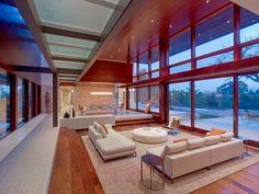 Elegant Sunken Living Rooms  SEE MORE HERE: http://www.decoist.com/2014-07-01/sunken-living-rooms/?utm_source=FacebookSL