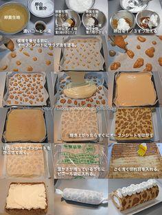 キリン模様のバナナロールケーキ・レシピ の画像|ちょっとの工夫でかわいいケーキ
