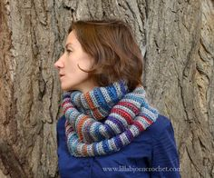 Forest Fog Crochet Cowl by Lilla Bjorn Crochet. Great colors!