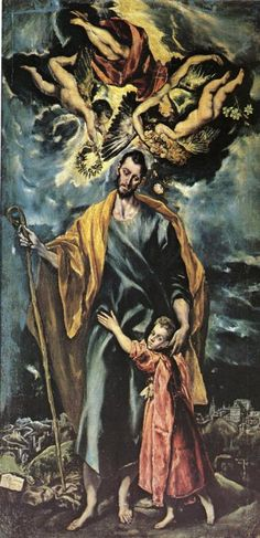 St Joseph and the Christ Child / 1597-99 / Oil on canvas / Capilla de San José, Toledo