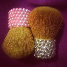 <3 rhinestones makeup brushes
