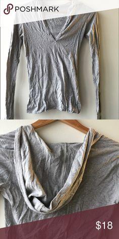 Hollister hooded tshirt Hooded tshirt v neck front Hollister Tops