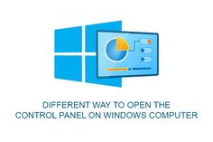 Different way to open the control panel on Windows computer, how to open control panel using Windows 10 Cortana voice assistence, Control panel shortcut Using Windows 10, Control Panel, Tech Logos, School