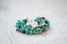 """Turquoise and Morion natural gemstone bracelet - """"Promise"""" - trendy and feminine jewellery New Model, Natural Gemstones, Turquoise Bracelet, Feminine, Perfume, Jewellery, Trending Outfits, Unique Jewelry, Bracelets"""