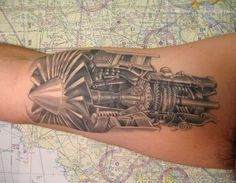 Aviation tattoos > Vintage Wings of Canada - cutaway of a GE 90 jet engine