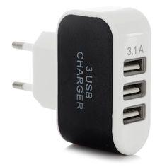 3 x #USB Ports 5V 3 1A #EUPlug #SmartQuick #Charger $7.44  #ubetechno #promoted Ubetechno