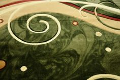 Dywan tradycyjny Fale fenix zieleń z eleganckim wzorem ręcznie wycinanym