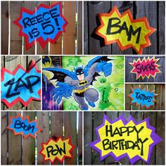 our five year old's superhero birthday party