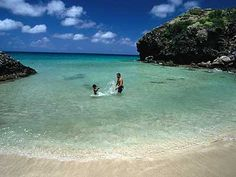CREDIT: Jeff Greenberg  A little dip in Friar's Bay Cove, south eastern St Kitts