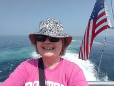 Wearing my pink Boston tee on the whale watching adventure. Bucket hat was a must for 3 hours in the sun. Whale Watching, Packing Light, Bucket Hat, Maine, Boston, Take That, Sun, Adventure, Tees