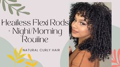 Heatless Flexi Rods to create this gorgeous and voluminous curly hair. You may not get the exact same result but your hair will be nice and curly nonetheless. Flexi Rods, Heatless Curls, Wand Curls, Prom Hairstyles, Black Girls, Curly Hair Styles, Nice, Create, Beautiful