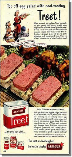 Top Off Egg Salad with Cool Tasting Treet (1948 Ad)❤️