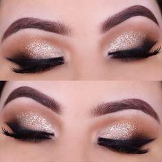 party makeup – Hair and beauty tips, tricks and tutorials Holiday Makeup Looks, Summer Makeup Looks, Spring Makeup, Glamorous Makeup, Gold Makeup, Eye Makeup, Party Makeup, Wedding Makeup, Simple Makeup