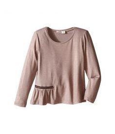 Junior Gaultier Long Sleeves Tee Shirt with Zipper Detail (Toddler/Little Kids) (Copper) Girl's Dress
