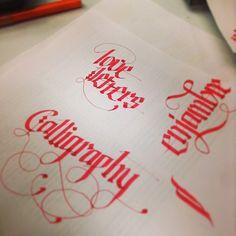 Calligraphy practice by Erik Gonzalez