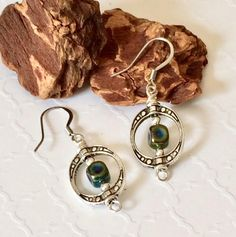 New dangles available in my #etsy shop: Silver Dangle Earrings Boho Dangles Boho Chic Earrings Geometric Dangle Earrings Dichroic Glass Earrings Casual Fashion Earrings Gift Her http://etsy.me/2BD00xB #jewelry  #silver #earrings #boho #silverdangles #silverearrings