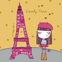 misspink: ♥ Paris! Illustration Parisienne, Love Illustration, Cute Images, Cute Pictures, Francia Paris, Romantic Paris, Paris Images, Paris Art, I Love Paris