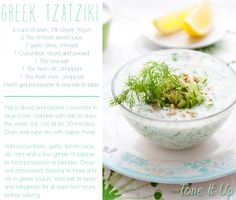 Tone It Up! Blog - We ♡ Gorgeous Greece! Your new Tone It Up Approved Greek Tzatziki recipe!
