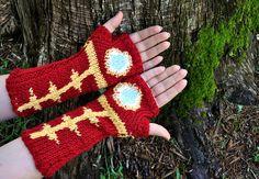 Iron Man Gauntlets knitting pattern