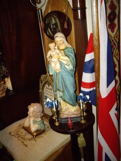 One of Many Medium sized French Plaster Statues of Our Lady