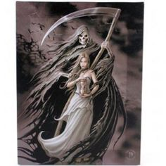 ANNE STOKES CANVAS/WALL PLAQUE-SUMMON THE REAPER