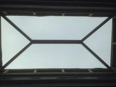 Internal view of 1200x2500mm hipped glass skylight.