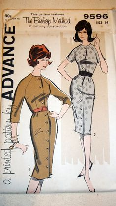 1960s+Advance+Sewing+Pattern+9596+Dress+Teen+by+HomemakingVintage,+$5.00
