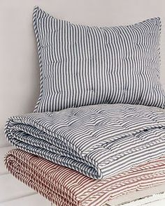 I like the style of ticking but would like to find more fabric that looks like ticking but not as thick.